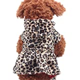Howstar Puppy Clothing, Pet Dog Leopard Hoodie Coat Lovely Warm Apparl Outfit