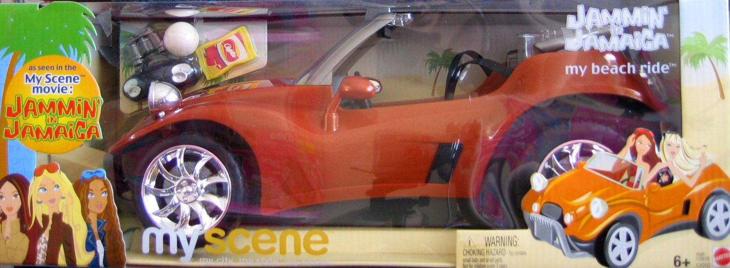 Amazon.com: Barbie My Scene Jammin in Jamaica My Beach Ride Dune Buggy - Copper Color Vehicle (2003): Toys & Games