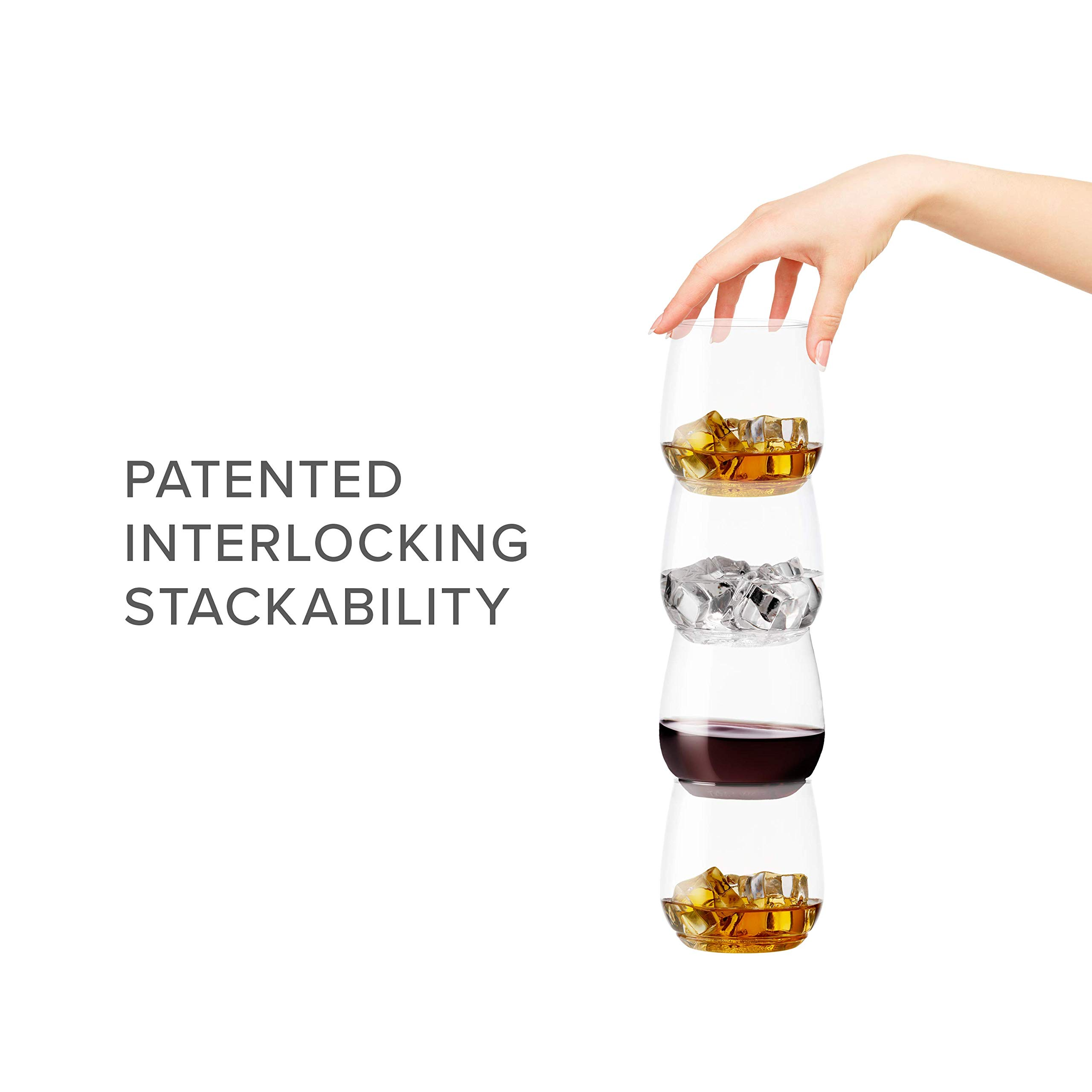 TOSSWARE 12oz Tumbler Jr - recyclable cocktail and whiskey plastic cup - SET OF 48 - stemless, shatterproof and BPA-free whiskey glasses by TOSSWARE (Image #2)