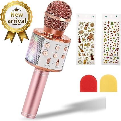 Micrófono de Karaoke Inalámbrico para Niños, EXJOY Micrófono ...