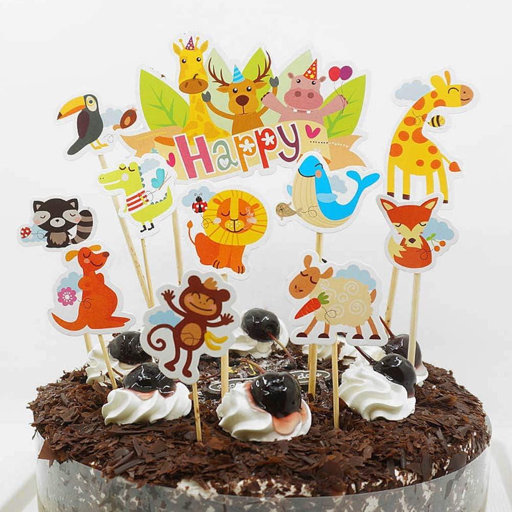 Sensational Toymytoy Zoo Animal Cake Toppers Picks Happy Birthday Party Cake Funny Birthday Cards Online Amentibdeldamsfinfo