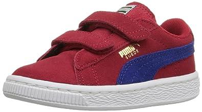 70fe82149c0 PUMA Boys  Suede 2 Straps INF Sneaker Barbados Cherry Mazarin 5 M US Toddler