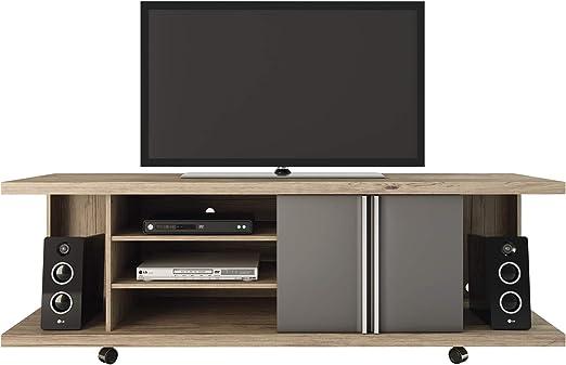 HomeRoots - Mueble para televisor de Oficina, Color Negro y Blanco: Amazon.es: Juguetes y juegos