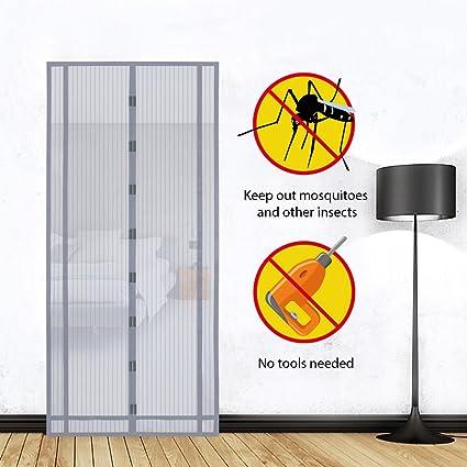 s/ótano Puerta magn/ético Mosquitera para puerta para balc/ón Negro se puede cortar en altura y ancho terrazas para puerta Sekey 220x130 cm magn/ético cortina para protecci/ón contra insectos