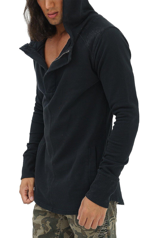 Trueprodigy Casual Herren Marken Sweatshirt Einfarbig Basic Oberteil Kapuze Langarm Slim Fit Hoodie Männer