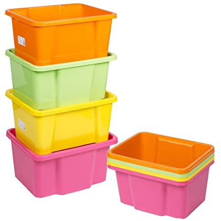 Easygift Products URBNLIVING 4x Assorted Colour Multi Storage Boxes (Bright)  sc 1 st  Amazon UK & Easygift Products URBNLIVING 4x Assorted Colour Multi Storage Boxes ...