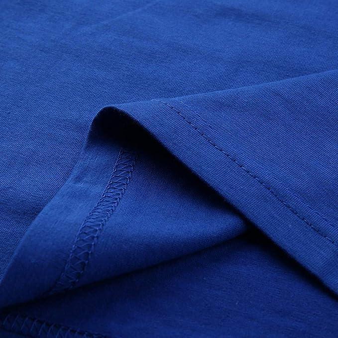 erthome - Camiseta de Manga Corta para Hombre Azul S: Amazon.es ...