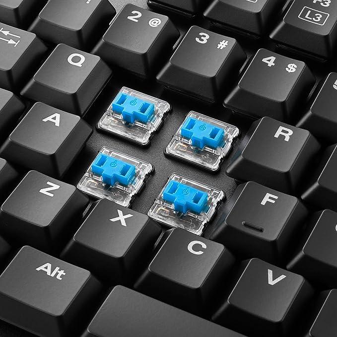 Sharkoon PureWriter TKL USB Alemán Negro - Teclado (Estándar, Alámbrico, USB, Interruptor mecánico, LED, Negro): Amazon.es: Informática