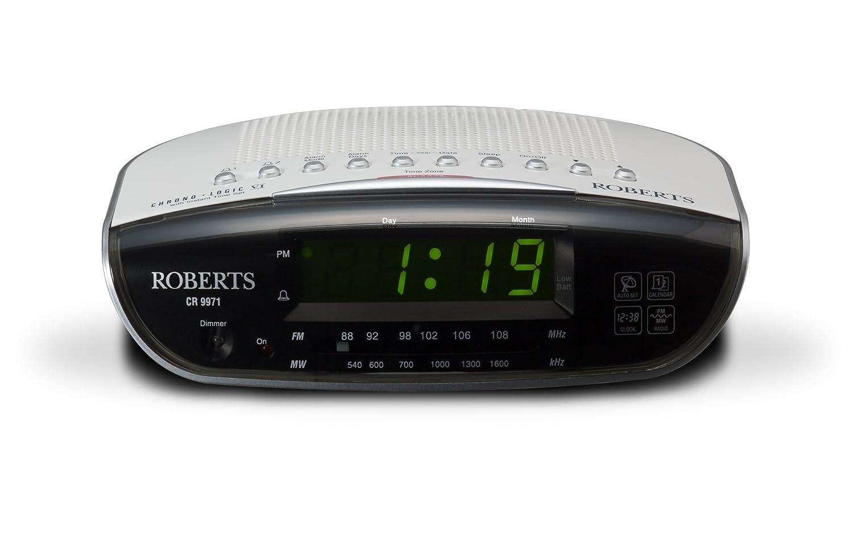 Roberts Radio CR9971 Chronologic Vi Dual Alarm Clock Radio with Instant  Time Set: Amazon.co.uk: TV
