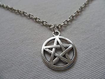 Pentacle Pentagramme PaganWiccaBijouxPentagrammePentacleProtection CollierArgent Pentagramme Pentacle Pendentif CollierArgent hsdtrQ