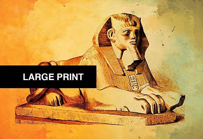 Amazon.com: Egyptian Sphinx Print Vintage Ancient Egypt Decor Ocean ...
