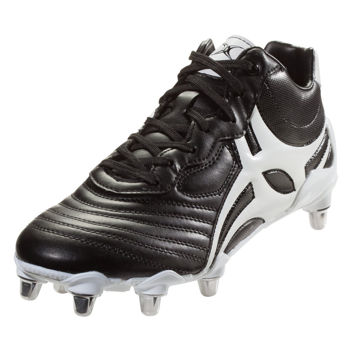 Gilbert Celera V3 High 8S Rugby Boot, Black, US 9