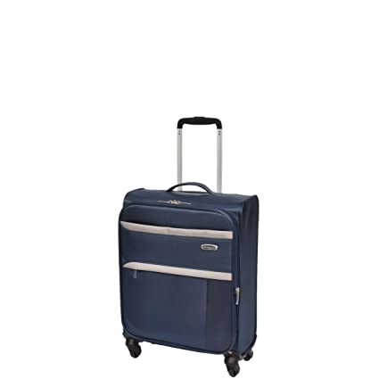 8829d624a Ultra Lightweight 4 Wheel Hand Luggage Cabin Suitcase Soft Case Trolley  Travel Bag A015 (Blue): Amazon.co.uk: Luggage