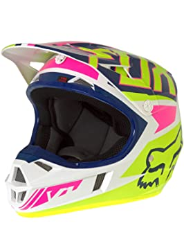 Fox 2017 Niños Motocross/MTB Casco – V1 Falcon – Casco Marina de Color Blanco