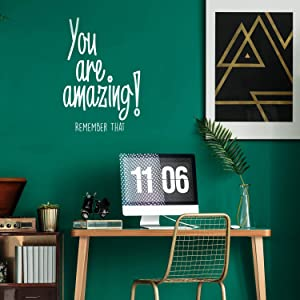 You are Amazing! Remember That - Inspirational Life Quotes - Wall Art Vinyl Decal - 34