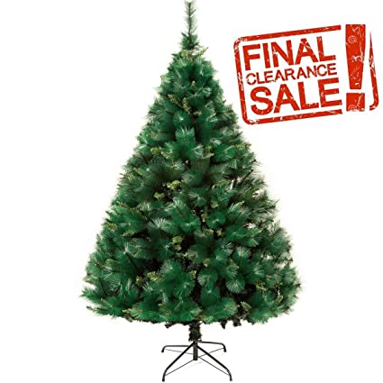 How To Draw A Realistic Christmas Tree.5 9 Foot Premium Spruce Hinged Artificial Christmas Tree With Sturdy Stand Eco Friendly Christmas Pine Tree 180cm