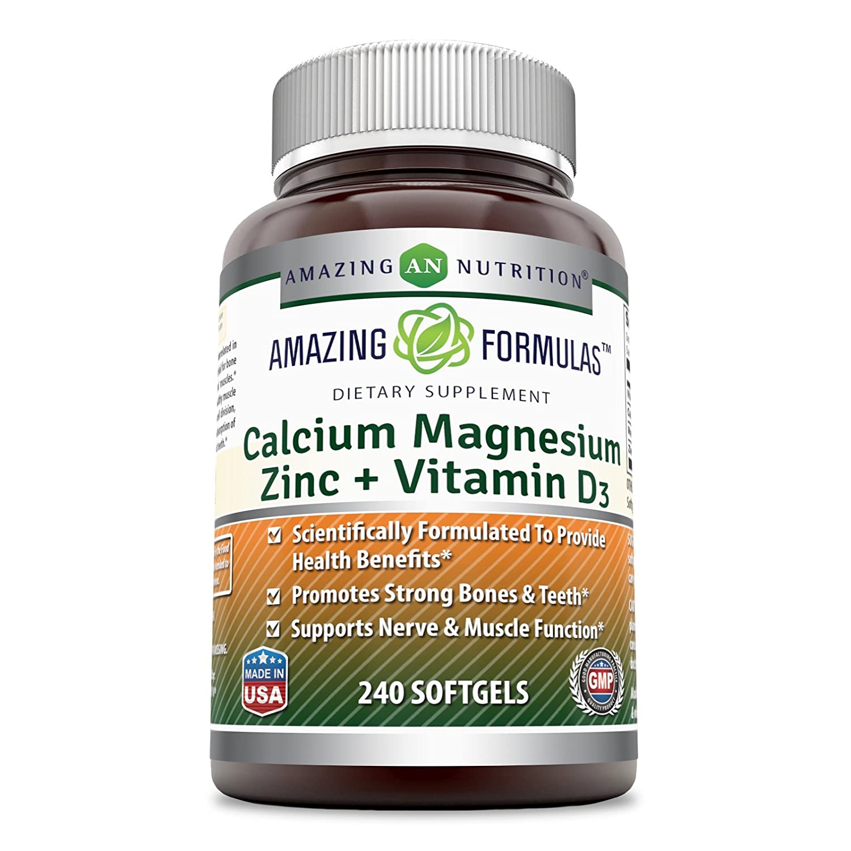 Amazing Formulas Calcium Magnesium Zinc + Vitamin D3 240 Softgels B0773TBGWX