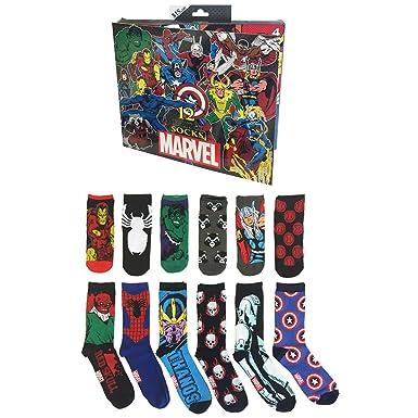 12 Days Of Christmas Socks.Men S Marvel 12 Days Of Christmas Casual Socks 10 13 At