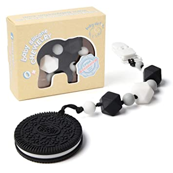 Teething Toys Bpa Free Silicone Very Cute And Highly Effective Pain Relief Cookie Teether With