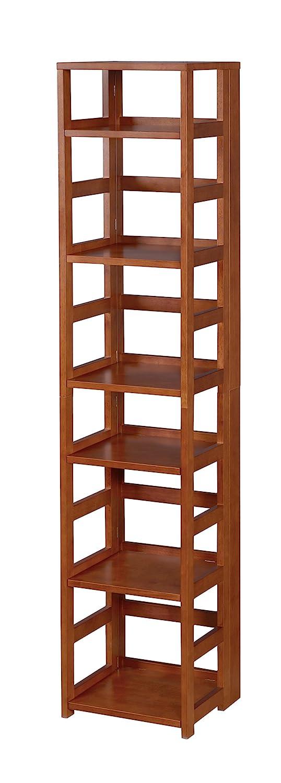 Niche Flip Flop Square Folding Bookcase, 67-inch, Cherry