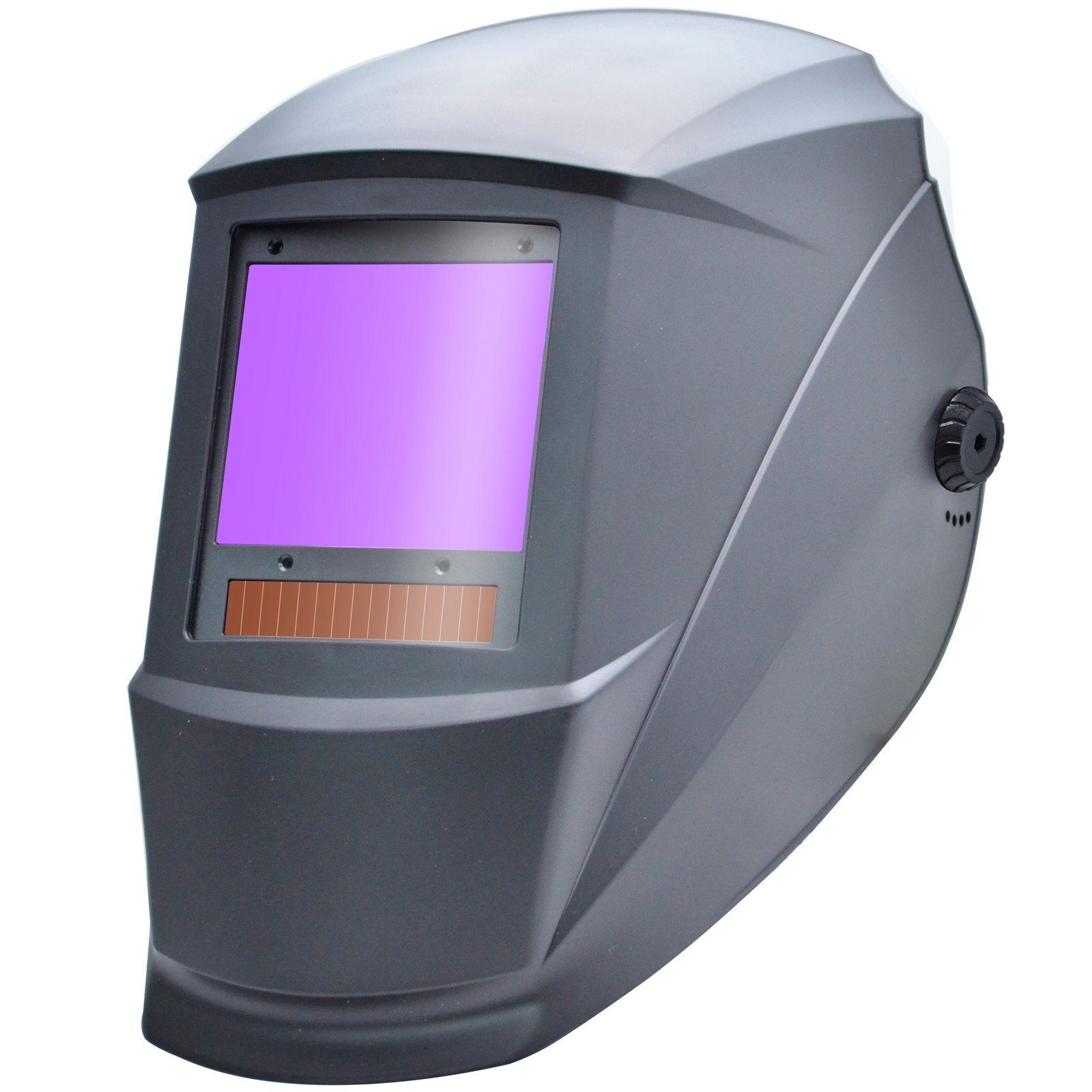 Antra AH7-X90-0000 TOP Optical Class 1/1/1/1 Digital Controlled Solar Powered Auto Darkening Welding Helmet Wide Shade 4/5-9/9-13 With Grinding Feature Extra Lens Covers Great for TIG, MIG, MMA,Plasma