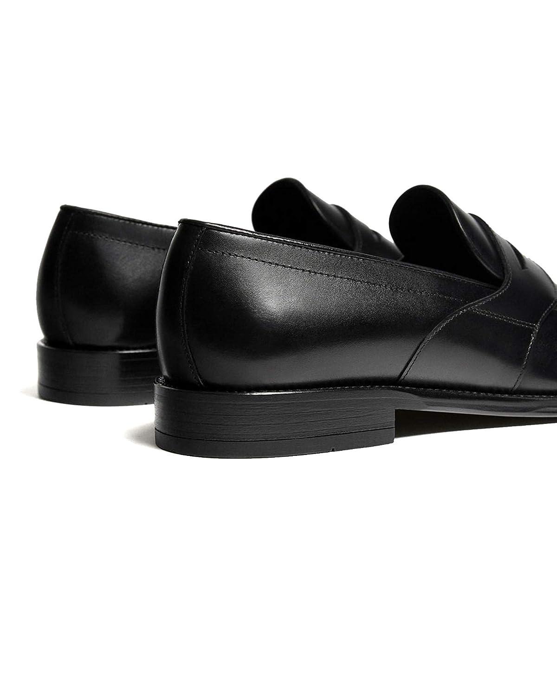 Massimo Dutti - Mocasines para Hombre Negro Negro, Color Negro, Talla 41 EU: Amazon.es: Zapatos y complementos
