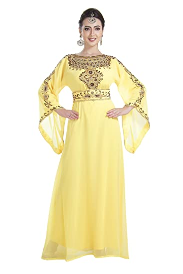 93eac7c6d3d Gennie Aladdin Fancy Maxi Dress Evening Wear Home Gown Nighty Caftan 7036   Amazon.co.uk  Clothing