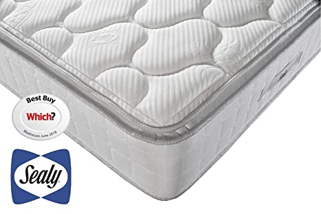 cheaper cbc3d a4995 Sealy Nostromo Latex 1400 Mattress, Weight Responsive Springs, Innergetic  Latex, Hypoallergenic, Medium Feel, Double