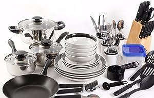 83 Piece Non Stick Pots and Pans Cookware Set Combo Set Kitchen Cooking Steel