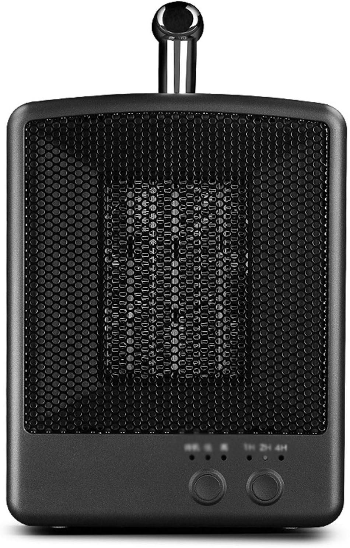 TWW Calentador Eléctrico Interior Protección contra Sobrecalentamiento Calentador De Ventilador Calentador con Temporizador Inteligente Adecuado para Uso En Escritorio De Oficina,Negro