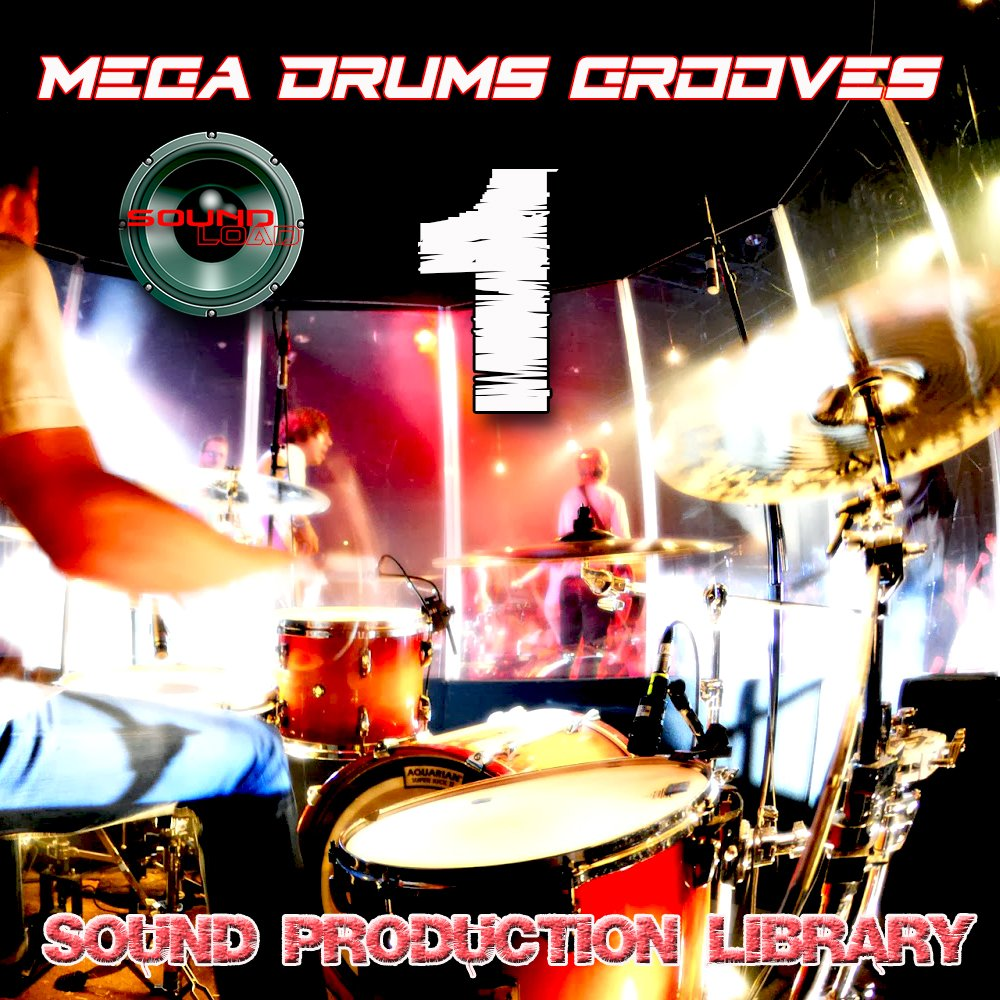 MEGA DRUMS GROOVES 1 - Production Samples Library - Kits/Loops/Performances 8.5GB on 2DVDs/download by SoundLoad