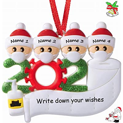 2020 Xmas Christmas Tree Hanging Toppers Family Ornaments Santa Claus Decor DIY