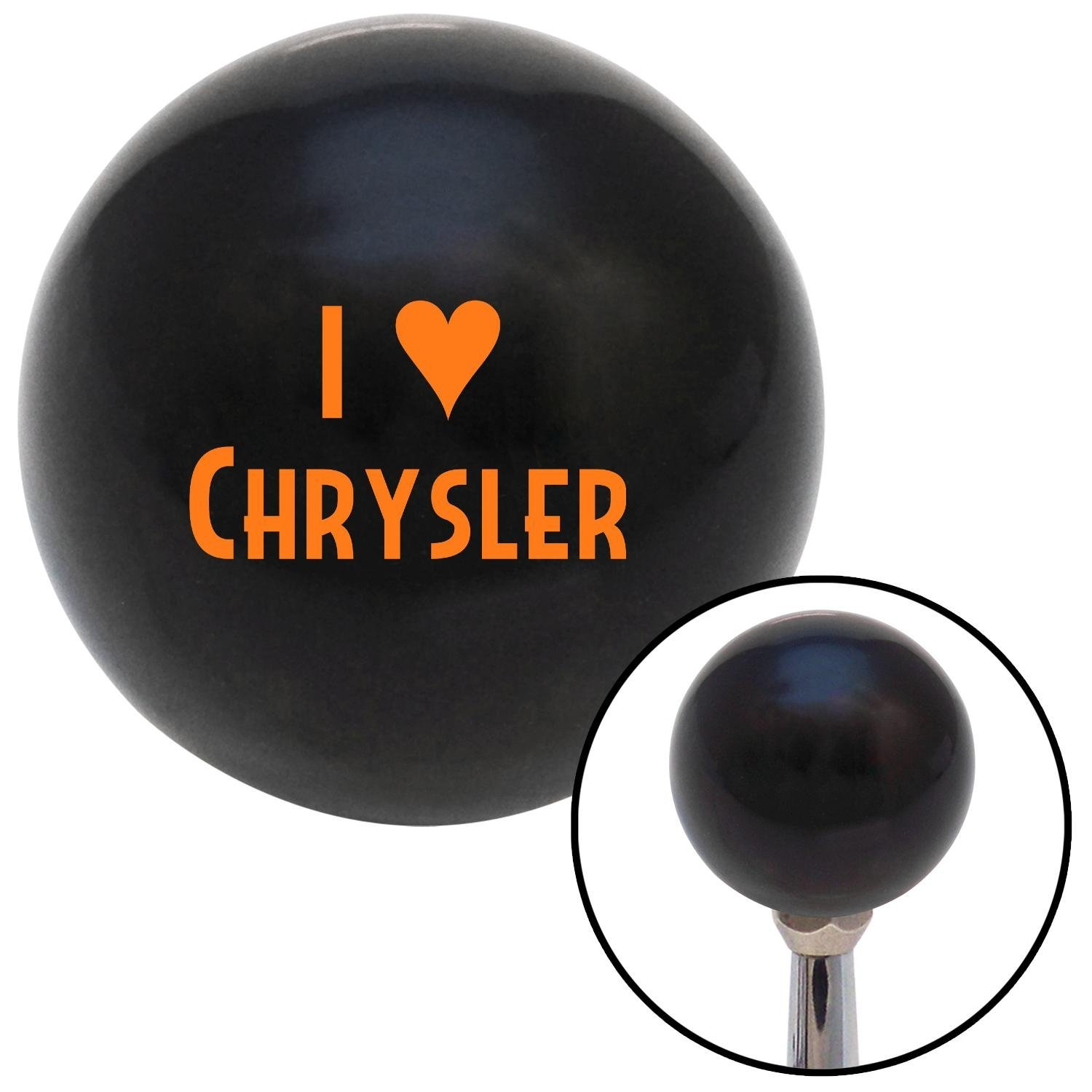 American Shifter 105602 Black Shift Knob with M16 x 1.5 Insert Orange I 3 Chrysler