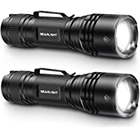 GearLight TAC LED Tactical Flashlight [2 PACK] - Single Mode, High Lumen, Zoomable, Water Resistant, Flash Light…