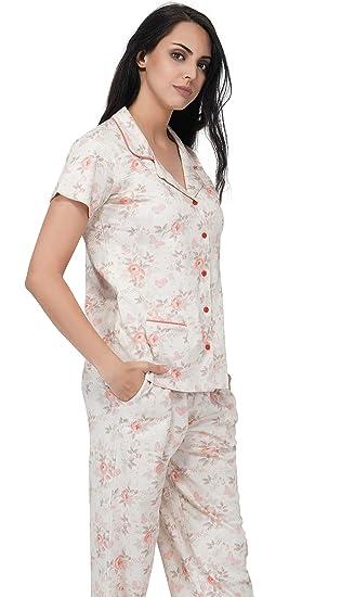 ffa69f38a0 Artemis Floral Printed Classic Cotton Pajama Set Sleep Shirt Night Wear Sleep  Dress