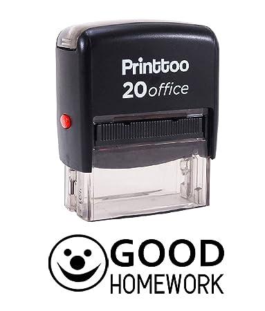 Printtoo GOOD HOMEWORK Self Inking Rubber Stamp Office Stationary Custom Black