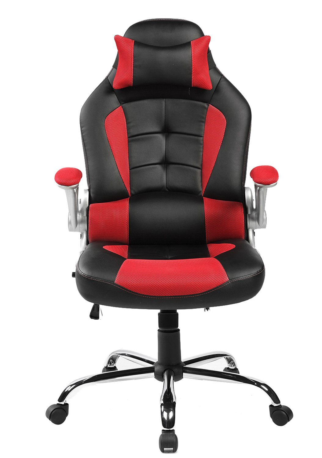 Amazon.com Merax High-Back Ergonomic Pu Leather Office Chair Racing Style Swivel Chair Computer Desk Lumbar Support Chair Napping Chair Kitchen u0026 Dining  sc 1 st  Amazon.com & Amazon.com: Merax High-Back Ergonomic Pu Leather Office Chair ... islam-shia.org