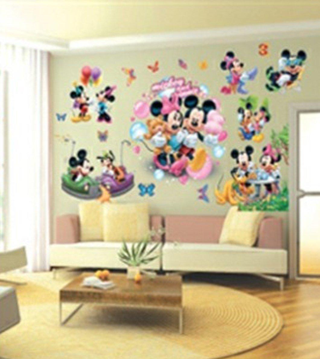 Imagen Pegatinas De Pared De Mickey Mouse Pegatinas De Pared De  ~ Murales Decorativos Para Habitaciones De Adultos