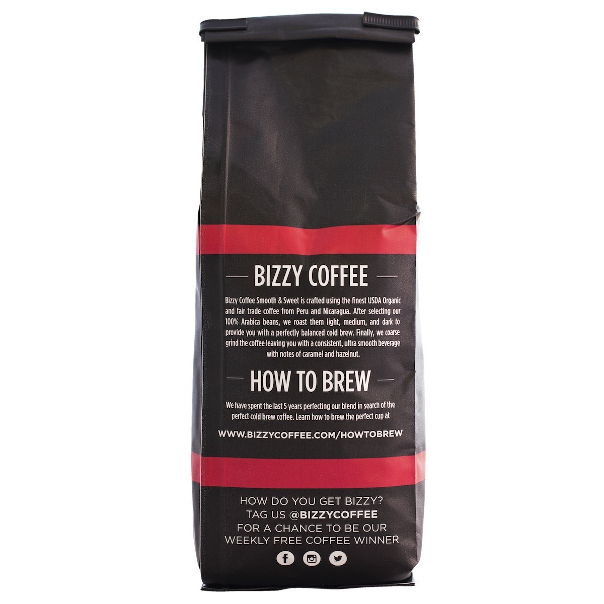 Bizzy Organic Cold Brew Coffee - Smooth & Sweet Blend - Coarse Ground Coffee - 1 Pound by Bizzy (Image #2)