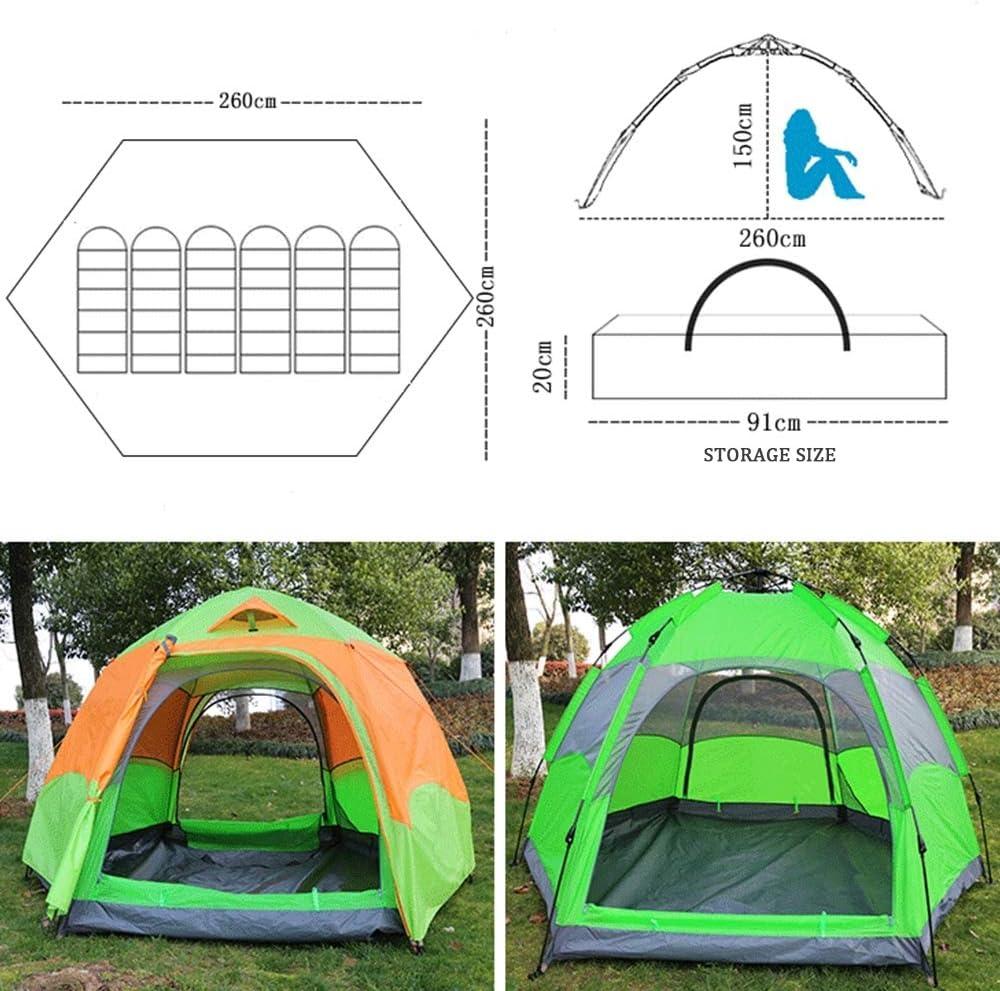 XINCHAOZ Pop Up Zelt Familienzelt Camping Zelt Tunnelzelt Für 5-6 Personen Vollautomatisch/Sonnenschutz/Anti-Lichtregen A