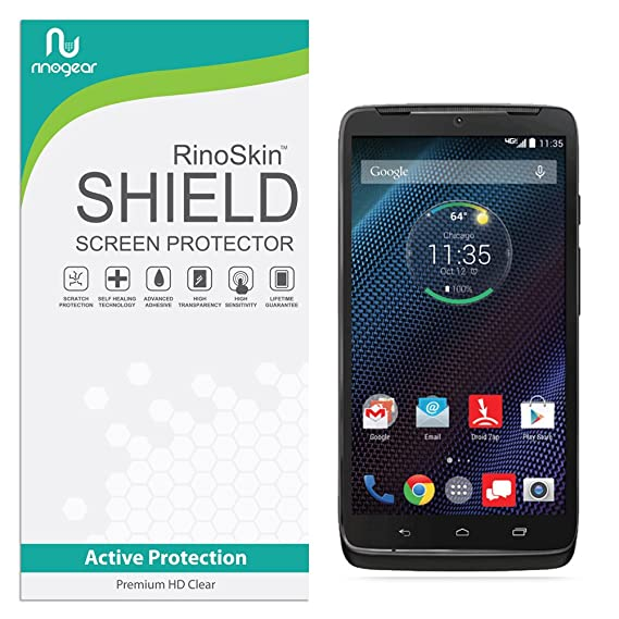 Motorola Droid Turbo Screen Protector RinoGear Case Friendly Screen Protector for Motorola Droid Turbo Accessory Full