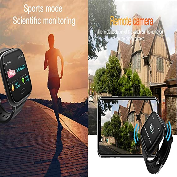 Amazon.com: Liuxiong Fitness Tracker 1.3-Inch Screen Smart Wristband Heart Rate Blood Pressure Sleep Detection Sports Waterproof Smart Bracelet,Red: Home & ...