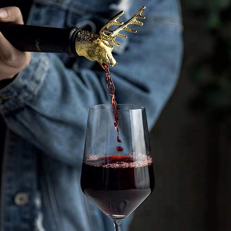 Bar Cabeza de Ciervo Vertedor y Tapones para vino Juego de 2 piezas
