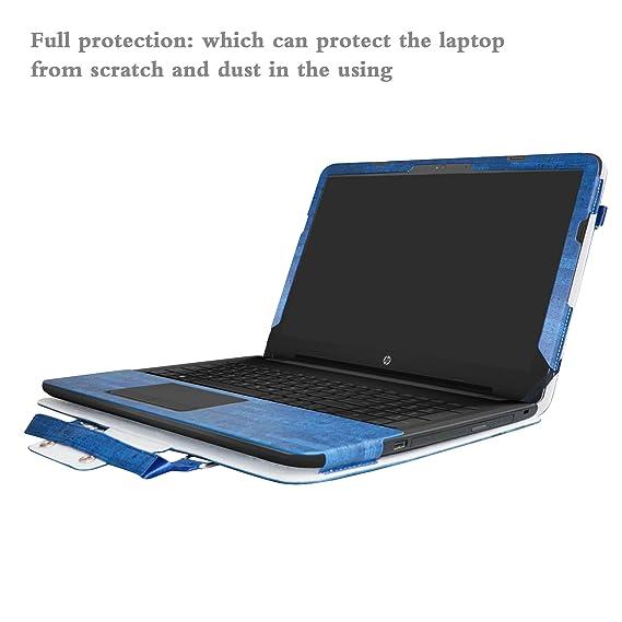HP Notebook 15 Funda,2 in 1 Diseñado Especialmente La Funda Protectora de Cuero de PU + la Bolsa portátil para 15.6