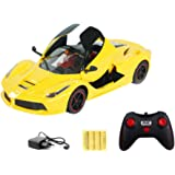 Toy House THXRCR3688-K7AY 1:16 5-Channel RC Ferrari with Open Door, Yellow