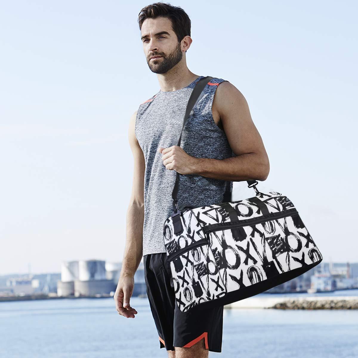 Mathematical Algorithm Geometric Large Travel Duffel Bag For Women Men Overnight Weekend Lightweight Luggage Bag