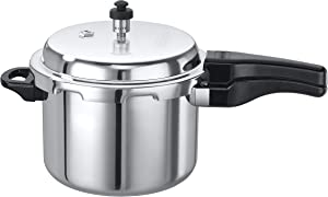 Elite Cookware - Aluminum Outerlid Stovetop Pressure Cooker - 5 Lts - Cook soups, rice, legumes and more