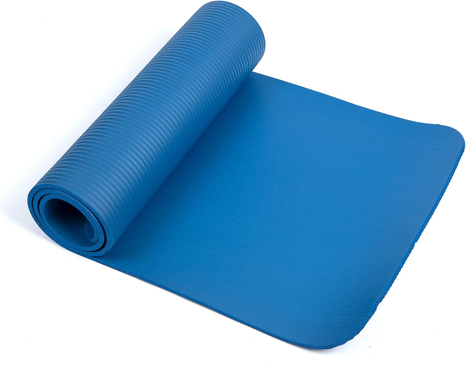 High Density Anti-Tear Blue Mind Reader NBRMAT-BLU All Purpose 1//2 Extra Thick Yoga Fitness /& Exercise Mats with Carrying Strap