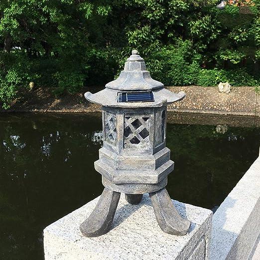 zenggp Escultura De Iluminación De Decoración De Lámparas De Jardín Japonesas - Candelita Candelabro Decoración Hogar Calmante: Amazon.es: Hogar