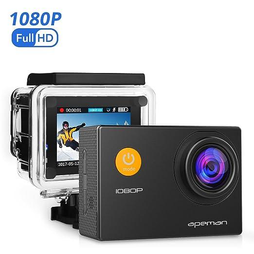 421 opinioni per APEMAN Action Cam Full HD 1080P con Custodia Impermeabile Subacqueo Action Sport